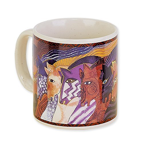Laurel Burch Artistic Collection 14-ounce Mug, Moroccan Mares