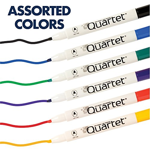 Quartet Dry Erase Markers, Whiteboard Markers, Fine Point, Mini, Magnetic, ReWritables, Classic Colors, 6 Pack (51-659312Q) by Quartet (Image #7)