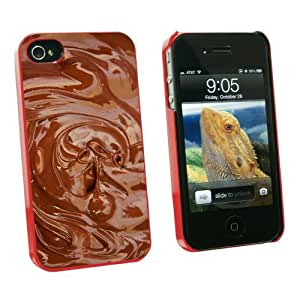 Graphics and More Chocolate Melted - Chocoholic - Snap On Hard Protective Case for Apple iPhone 6 plus 5.5 - Red - Carrying Case - Non-Retail Packaging - Red