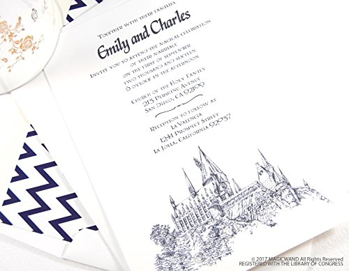 amazon com harry potter wedding invitation package sold in sets of
