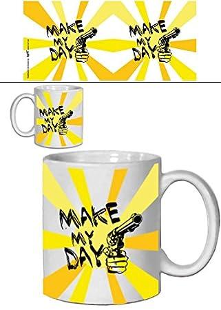 Set: Harry El Sucio, Make My Day, Venga Alegrame El Día Taza Foto (9x8 cm) Y 1x Taza Sorpresa: Amazon.es: Hogar