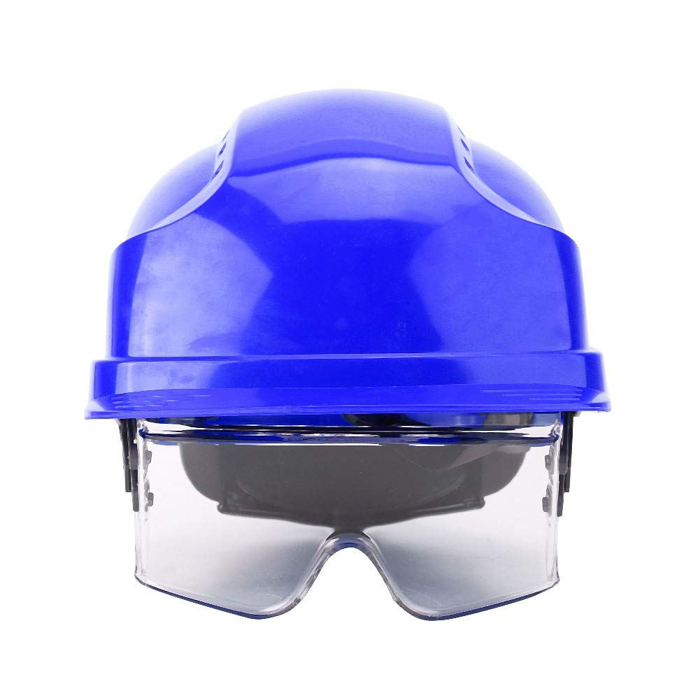 Safety Hat, Hard Safety Helmet with Goggles for Eye Protection Suitable for Construction Workers(Blue) by Sanpyl