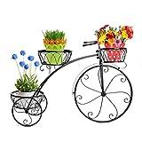 DoubleWin Nostalgic Bicycle Home Garden Decor Wrought Iron Plant Stand