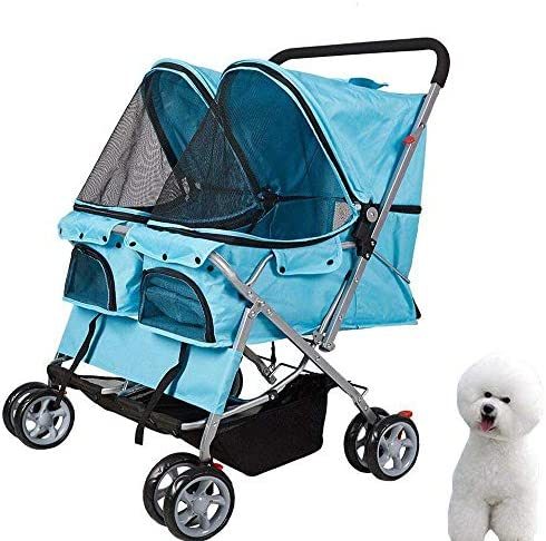 KARMAS PRODUCT Pet Stroller for Dog Cat Small Animal Folding Walk Jogger Travel Carrier Cart with Three Wheels Four Wheels