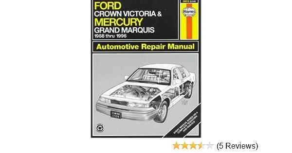 ford crown victoria mercury grand marquis automotive repair manual rh amazon com 1996 mercury grand marquis repair manual pdf 1996 Mercury Grand Marquis Bayshore