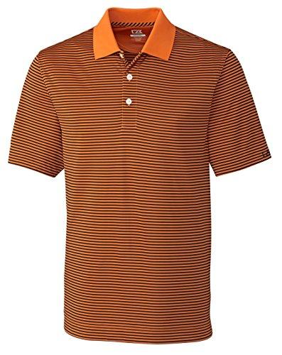 Cutter & Buck Big and Tall Drytec Trevor Stripe Polo (3XL, Orange Burst/Navy)
