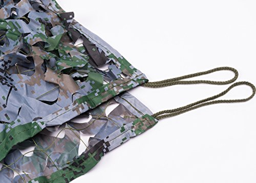 NINAT Camo Netting 10x10ft Digital Woodland Camouflage Net for Camping Military Hunting Shooting Multicolor Sunscreen Nets by NINAT (Image #3)