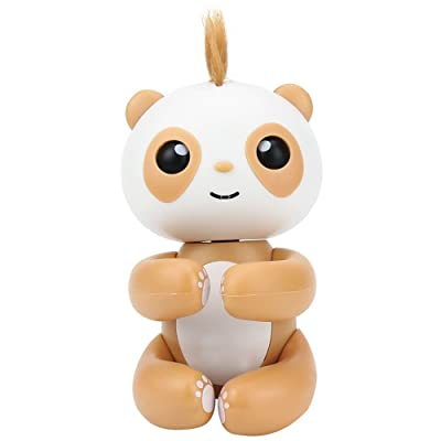 Luerpci Finger Panda, Smart Interactive Electronic Panda Toy for Kids Baby, Gift Ideas (Brown): Toys & Games