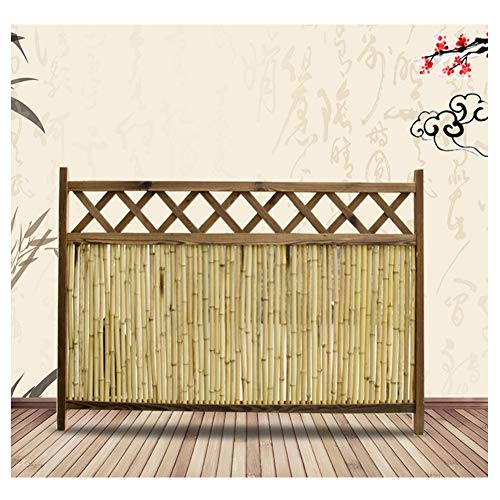 ZENGAI Garden Fence Decorative Garden Fence Bamboo Fence Bamboo Bamboo Curtain Villa Indoor Outdoor Fence Guardrail Patio Rural Cut Off Decoration 4 Sizes (Size : - Bamboo 4 Rail Fencing