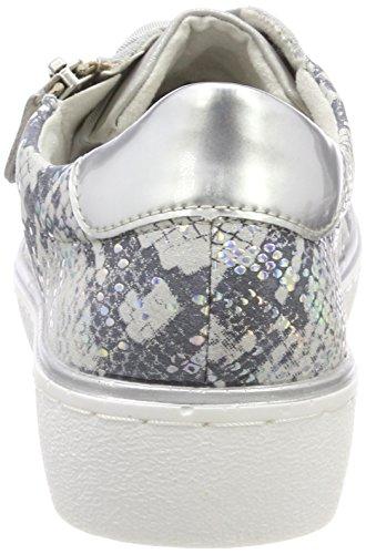 Bleu EU R5501 Argento Sneakers 36 13 Femme Basses Remonte nfPxR8R