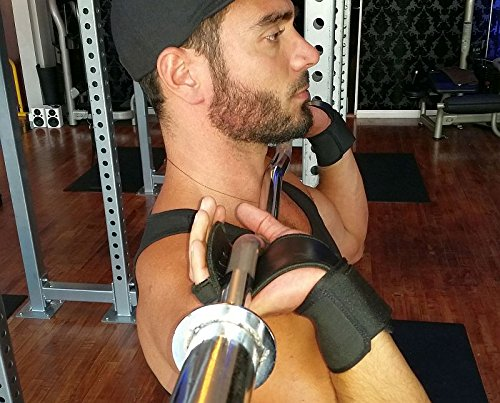 GymPaws Shredder WOD Leather Hand Grips with Custom-Fit Wrist Support