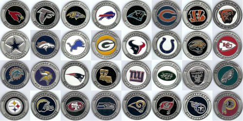 NFL Challenge Coin 32 Coin Complete Set by Gap