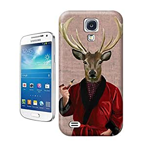 Unique Phone Case Deer in Smoking Jacket Hard Cover for samsung galaxy s4 cases-buythecase