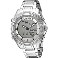 Kenneth Cole REACTION Men's 'ANA-Digit' Quartz Metal and Stainless Steel Watch, Color:Silver-Toned (Model: RK50524003)