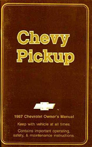 bishko automotive literature 1987 Chevrolet C/K Pickup Truck Owners Manual User Guide Reference Operator ()