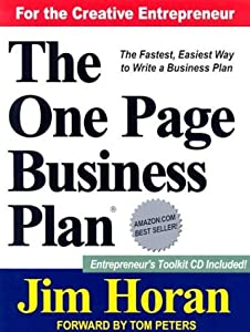 The One Page Business Plan for the Creative Entrepreneur by The One Page Business Plan Company