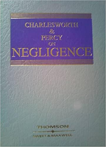 Book Charlesworth and Percy on Negligence