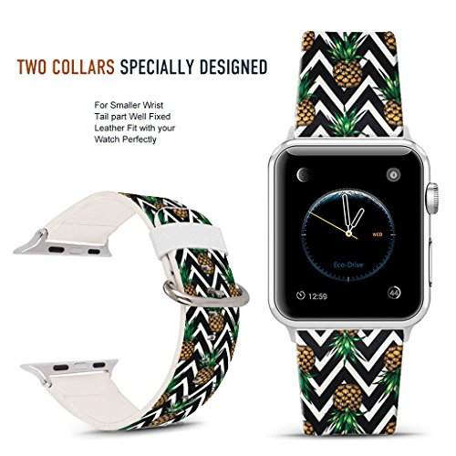 Doo Replacement - For Apple Watch Band 42mm Fashion pineapple and Chevron pattern, DOO UC Stainless Steel Watch Band Replacement Strap for Both Apple Watch Series 1 and Series 2 and Series 3 - 42mm