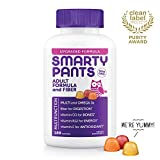 Daily Gummy Multivitamin Adult w/ Fiber: Vitamin C, D3, & Zinc for Immunity, Gluten Free, Omega 3 Fish Oil (DHA/EPA), Vitamin B6, E, Methyl B12 by Smartypants 180 count