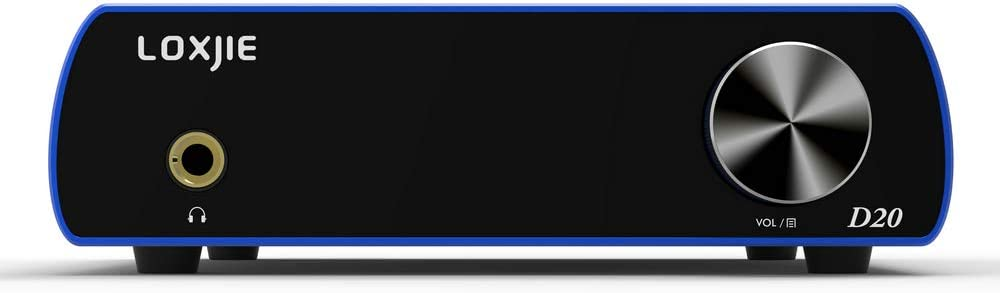 LOXJIE D20 Audio DAC Desktop Digital to Analog Converter /& Headphone Amplifier Chip AK4497 Support 32bit//768kHz DSD512 OLED Display Blue