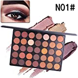 35 Colors Makeup Matte Eyeshadow Palette Naked Glitter Shimmer Natural Nude Pigment Eye Shadow Pallete Set Waterproof Smokey Professional Cosmetic Kit By DMZing (MES-A)