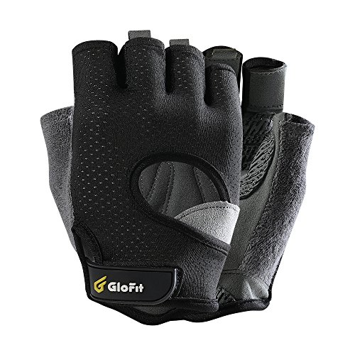 - Glofit FREEDOM Workout Gloves, Knuckle Weight Lifting Shorty Fingerless Gloves with Curved Open Back, for Powerlifting, Gym, CrossFit, Women and Men(Black, Small)