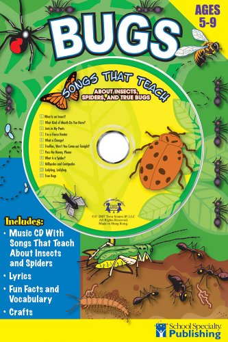 Bugs Sing Along Activity Book with CD: Songs That Teach About Insects, Spiders, and True Bugs (Sing Along Activity Books) pdf epub