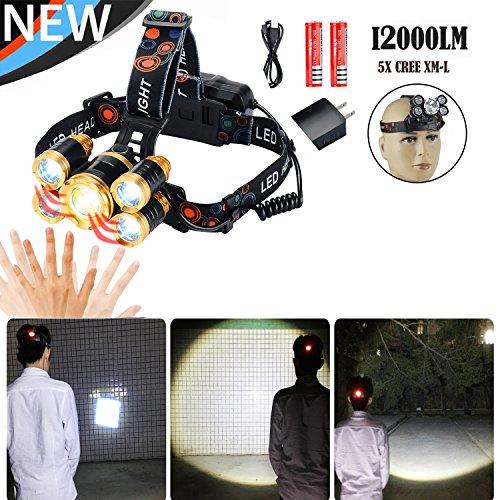 2000 Lumens T6 LED Bike Headlight Waterproof USB Flashlight (Blue) - 1