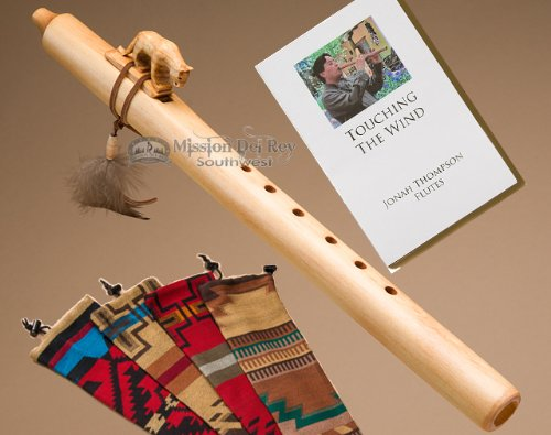 Native American Flute Pack -Natural Mt. Lion & Bag