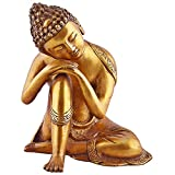 Buddhist Statue Large Brass Buddha Statue - Sleeping Resting Golden Sculpture