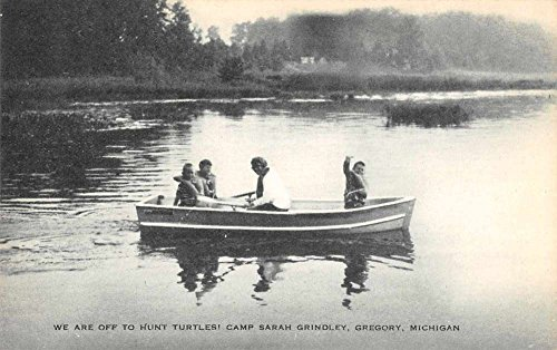Gregory Michigan boaters Camp Sarah Grindley antique pc Z40385