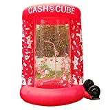 Inflatable Cash Cube Booth for Advertisment, Inflatable Money Grab Machine for Event (No Blower Included) (Red)
