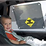 "Suction Mounted Window Sunscreen, Auto Scunscreen, R.V. Sunscreens, Baby on Board Deluxe Sunscreen, 2 Pack, 17"" X13"""