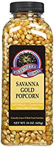 Fireworks Popcorn Savanna Gold Popcorn, 15-Ounce Bottles (Pack of 6)