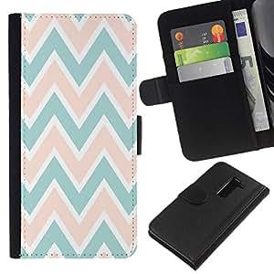 All Phone Most Case / Oferta Especial Cáscara Funda de cuero Monedero Cubierta de proteccion Caso / Wallet Case for LG G2 D800 // Pattern Pink Peach Green White