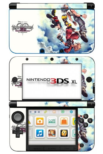Kingdom Hearts 3D Dream Drop Distance Game Skin for Nintendo 3DS XL Console