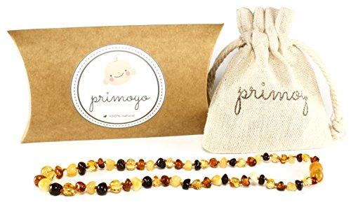 primoyo, collana in ambra (mista) con chiusura a incastro, 100% a mano, vera ambra baltica, lunghezza 32 cm
