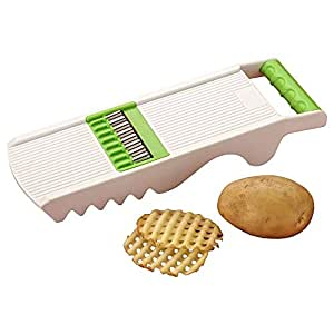 Famous 6 in 1 Slicer & Grater, with 6 Detachable Slicers, Ripple, Greater.