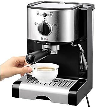 Sinbo SCM-2926 Máquina espresso 1.2L Negro, Acero inoxidable - Cafetera (Máquina espresso, 1,2 L, De café molido, Negro, Acero inoxidable): Amazon.es: Hogar
