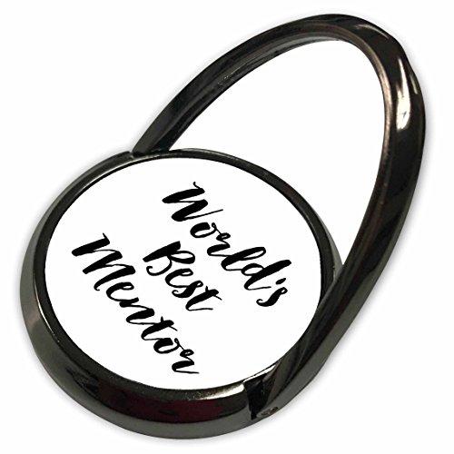 3dRose Janna Salak Designs Worlds Best - Phrase - Worlds Best Mentor - Phone Ring (phr_219526_1) -