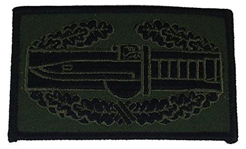 US ARMY COMBAT ACTION BADGE PATCH - OD Green/Black - Veteran Owned Business.