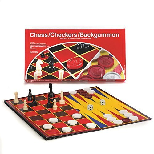 PRESSMAN TOYS CHESS/CHECKERS/BACKGAMMON (Set of 3)