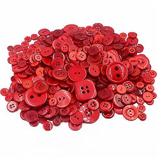 Vi.yo ボタン 樹脂 手芸材料 手作り 縫製DIY 装飾 工芸品 レッドの商品画像