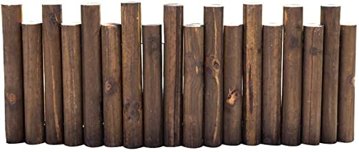 2 x 1M Garden Fixed Picket Fence Log Roll Border Edging Border Fence Panels