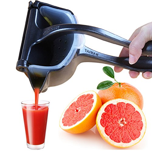 Top Rated Sturdy Aluminum Citrus Juicer - Never Fade, CHEE MONG Retro Style Manual Grapefruits Lime Lemon Squeezer - Less Foam, TEFLON Design Same As Rice Cooker Liner (Recommend Hand Wash) (Hand Held Lemon Squeezer)
