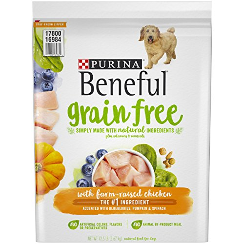 Purina Beneful Grain Free, Natural Dry Dog Food, Grain Free With Real Farm Raised Chicken - 12.5 lb. Bag (Purina One Grain Free Dog Food)