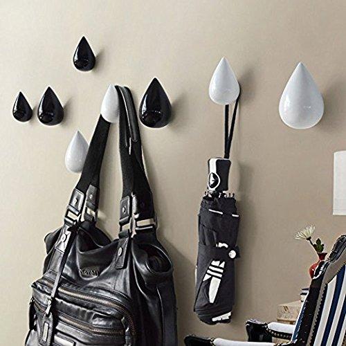 Vivona HN-48 Brief Water Drop Shaped Hook Wooden Decorative Wall Mounted Hanger Bedroom Bathroom Living Room Coat Hooks Hat Hangers Artistic Clothes Hooks - (Color: Pink, Size: L) by Vivona (Image #5)