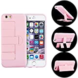 iPhone 6S Case, Meiya Newest PC+TPU Heavy Duty Shockproof Fashion Multi Function 360 degree Rotating Kickstand Case Cover Holder Car Mount for iPhone 6s/6 4.7 (PINK)
