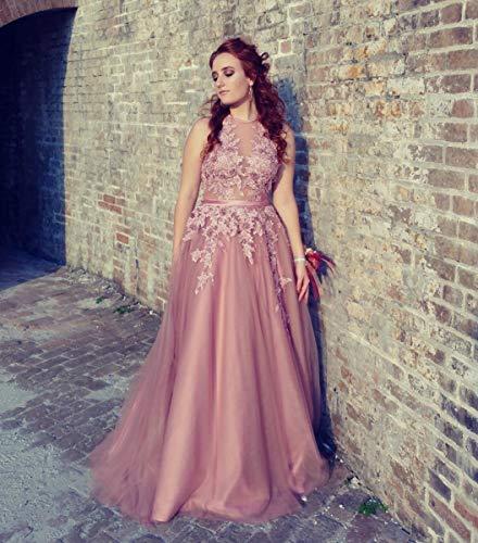 Prom Backless Women's Evening Fanciest 2018 Long Dresses Appliques Dress Blue Sky Halter Fomral qf0SCw