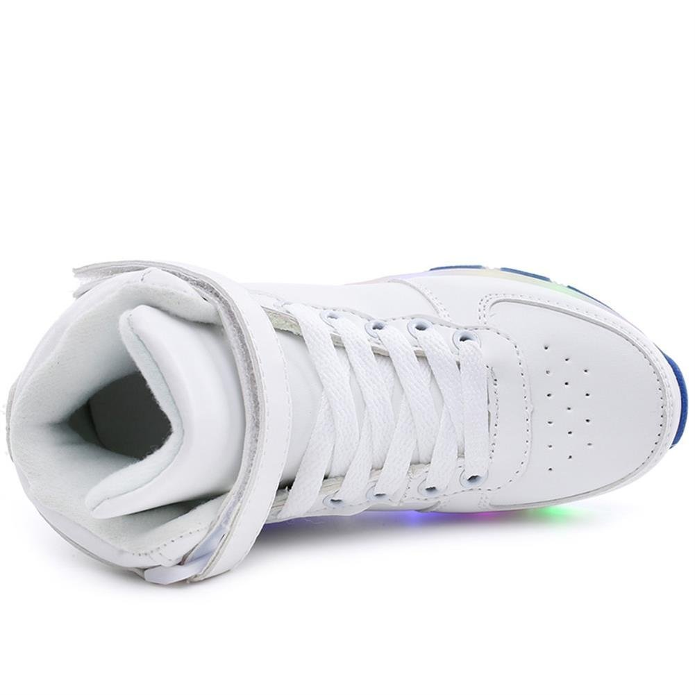 chen yasheng Boys Girls High-Top Shoes LED Light Up Sneakers Single Wheel Roller Skate Shoes
